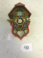 Wooden Cuckoo Clock, Moving Bird, likely 1960's, German made