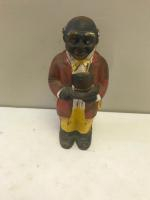 Vintage Uncle Mose Cast Iron Bank, approx 8 inches tall