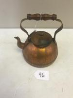 Portugal Made Copper Tea Kettle, marked Tagus R52