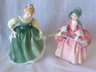 Little Bo Peep & Fair Maiden - Royal Doulton