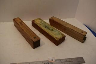 3 Vintage pencil cases
