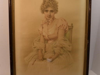 """Charming Kate"" By Florence Gravier 15"" x 21"""