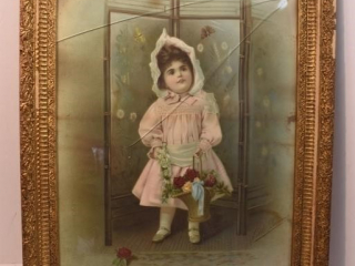 """Little Queenie "" picture 18"" x 23"" (Glass is"