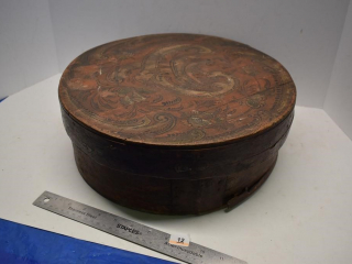Vintage Wooden Hat Box