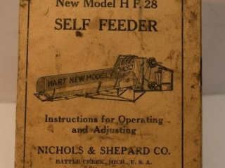 HART New Model H F. 28 Self Feeder Instructions