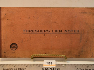 Threshers Lien Notes Book