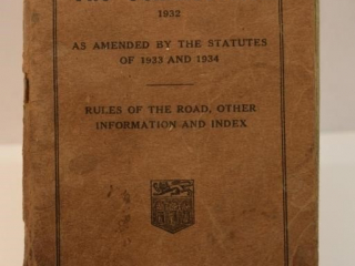 Province of Saskatchewan 1932 Vehicles Act