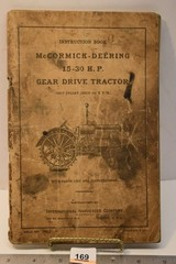 Instruction Book for McCormick-Deering 15-30 H.P.