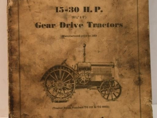 "Instruction Book for 15-30 H.P. (4 1/2""x 6"") Gear"