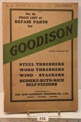 No. 25 Price List of Repair Parts for Goodison