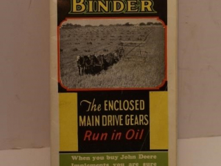 Light Running John Deere Grain Binder Advertising