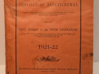 Statutes of the Province of Saskatchewan - First