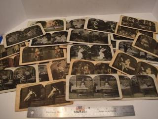 Various Vintage Stereoscope Slides