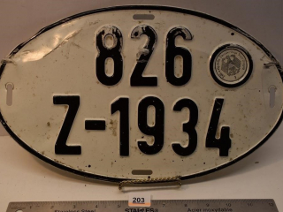 Old German License Plate