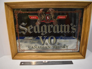 "Seagram's V.O. Canadian Whiskey Mirror - 18""x"