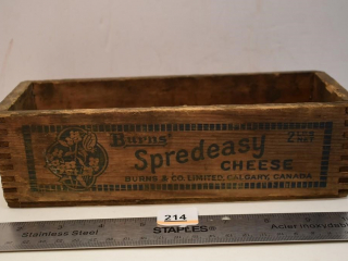 Wooden Burn's Spready Cheese Box