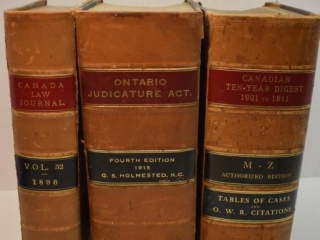 Canadian Law Journal, Ontario Judicature Act, and
