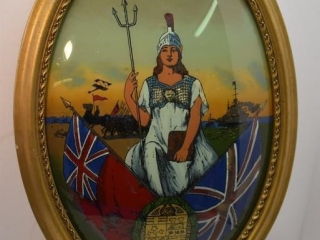 "Convex Glass Britannia picture 16"" x 23"""