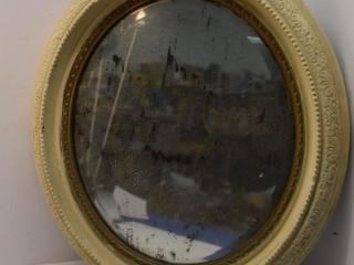 "Vintage Oval Mirror 19"" x 17"""