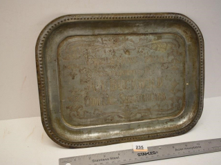 Advertising Tray 1928 Cadillac Sask.