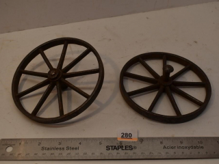 2 Small Metal Wheels