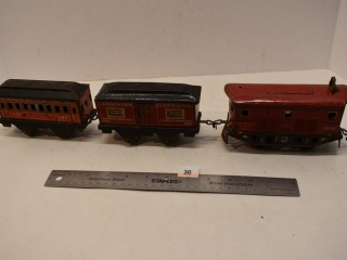 Tin Train Cars