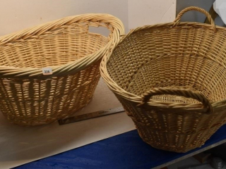 2 - Large Wicker Baskets