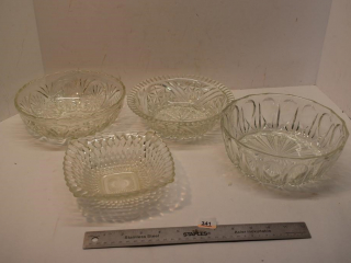 Four Crystal Bowls