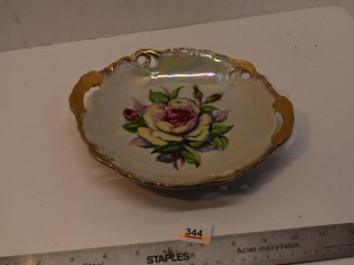 Hand Floral Painted Dish