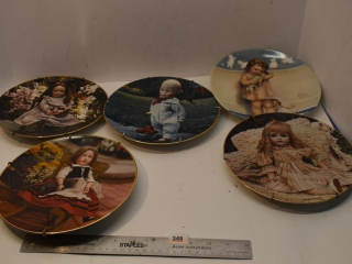 "Five ""Doll Collection"" Decorative Plates"