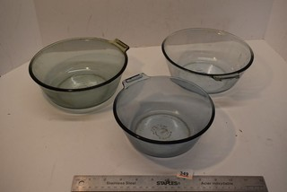 Three Pyrex Flameware Dishes