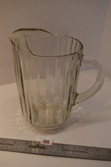 Heavy Glass Pitcher
