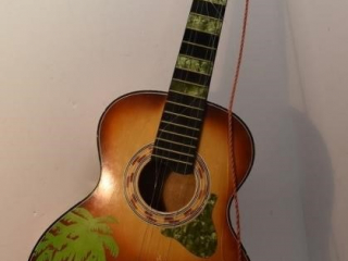Hawaiian Themed Acoustic Guitar