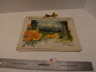 1901 California Calendar