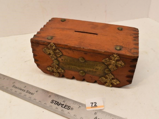 Old Wooden coin bank