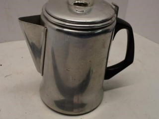 Aluminum coffee pot complete