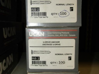 "3- UCAN u-DRIVE ANCHOR ins 2; 2"" Nominal  length"