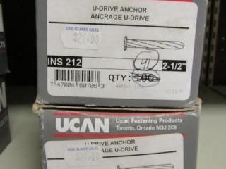 """2- UCAN  U-Drive Anchor INS 212 : 2-1/2"""""""