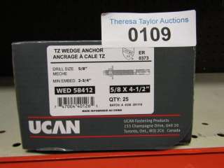 UCAN TZ Wedge Anchor WED58412 5/8  x 4.-1/2""