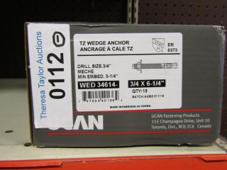 "UCAN TZ Wedge Anchor WED 34614- 3/4"" x 6-1/4"""