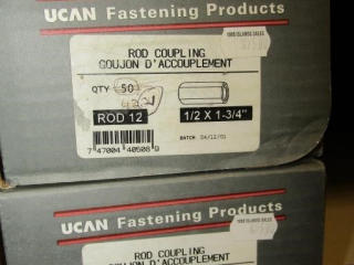 UCAN Rod Coupling  ROD 12 1.2: x 1-3/4""