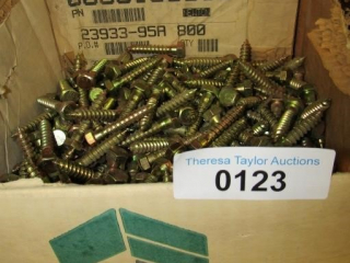 "2/3 full Box of 3/8"" x 2 X Lag bolts"