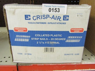 1- box Crisp Air collated plastic strip nails