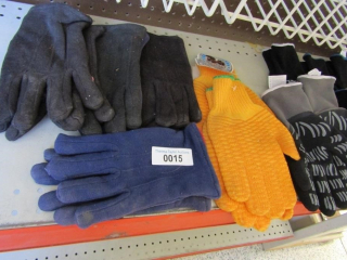 13- assorted work gloves
