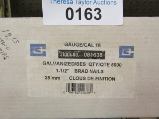 "Galvanized 1-1/2"" Brad Nails 16 guage stock"