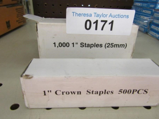 "1,000 1"" Staples and another box of 500 staple"