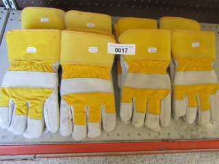 8 pairs of Cotton and Leather gloves