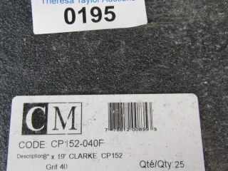 CM Cp 152 - 040F 25 sheets. Grit 40 Sand Paper