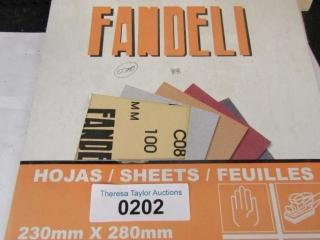 Fandeli sand paper Grit 100 9 x 11 sheets 62