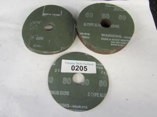 Sand paper disc Grit 60, 80, 100 Diameter 4.5 x 7/
